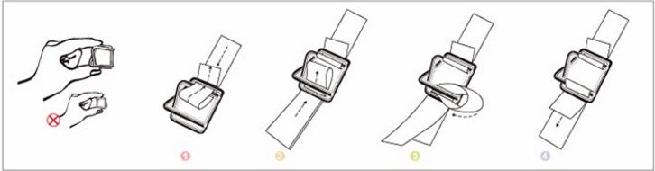 Sơ đồ luồn dây đai composite vào bọ thép khóa đai chữ U