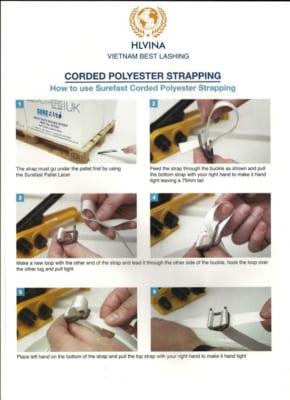 Cách luồn dây đai composite vào bọ thép khóa đai chữ U