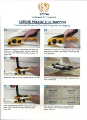 Cách tăng dây đai composite bằng dụng cụ tăng đai
